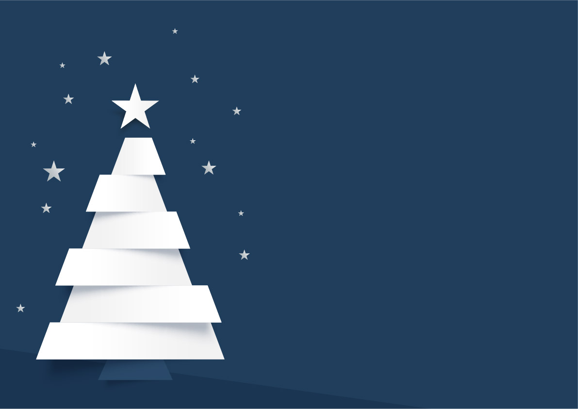 Free Download Vector Christmas Tree Background Blue